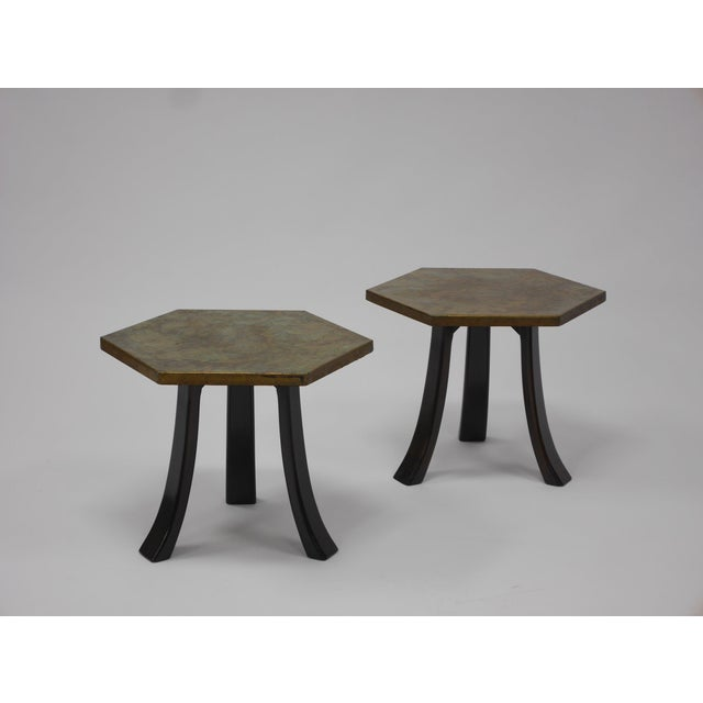 Pair of Harvey Probber Acid-Etched Bronze Tables For Sale - Image 11 of 11