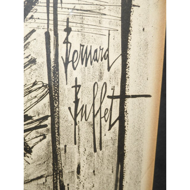 1970s Vintage Mid Century Modern Style Lithograph by Famed Artist Bernard Buffet For Sale - Image 5 of 12