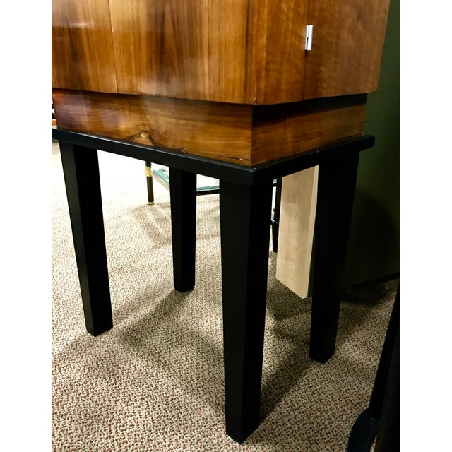 Art Deco Wooden Cabinet on Metal Stand - Image 8 of 9