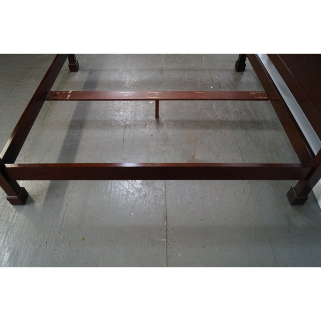 Baker Mahogany Chippendale Style King Size Poster Bed - Image 3 of 10
