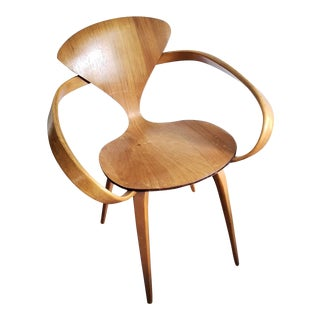 1950's Vintage Plycraft Norman Cherner Pretzel Chair For Sale