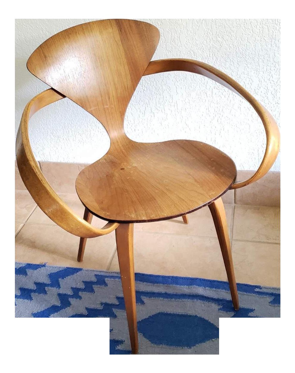 1950u0027s Vintage Plycraft Norman Cherner Pretzel Chair
