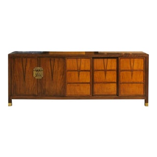 Stunning Vintage Walnut Buffet or Credenza by Baker For Sale