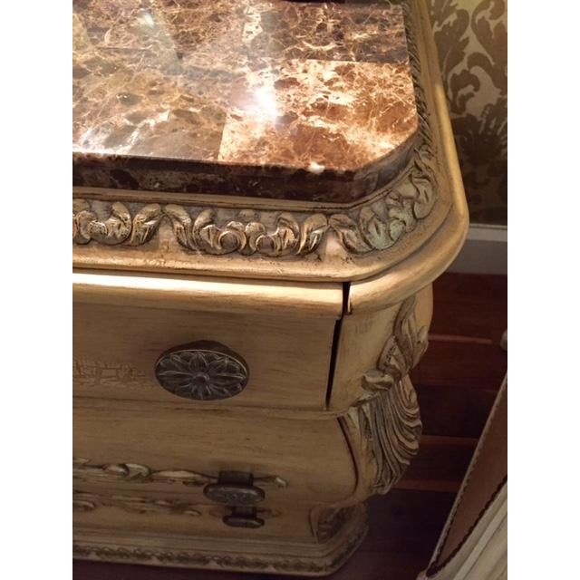 Traditional Marble Topped Nightstands - 2 - Image 3 of 5