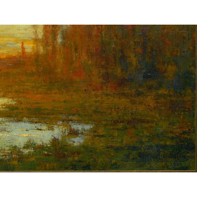 """September Harmony"" (1910) Tonalist Painting Oil on Canvas by Karl Emil Termöhlen For Sale - Image 6 of 13"