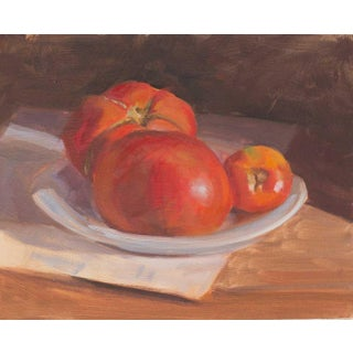 Framed Summer Tomatoes Painting For Sale