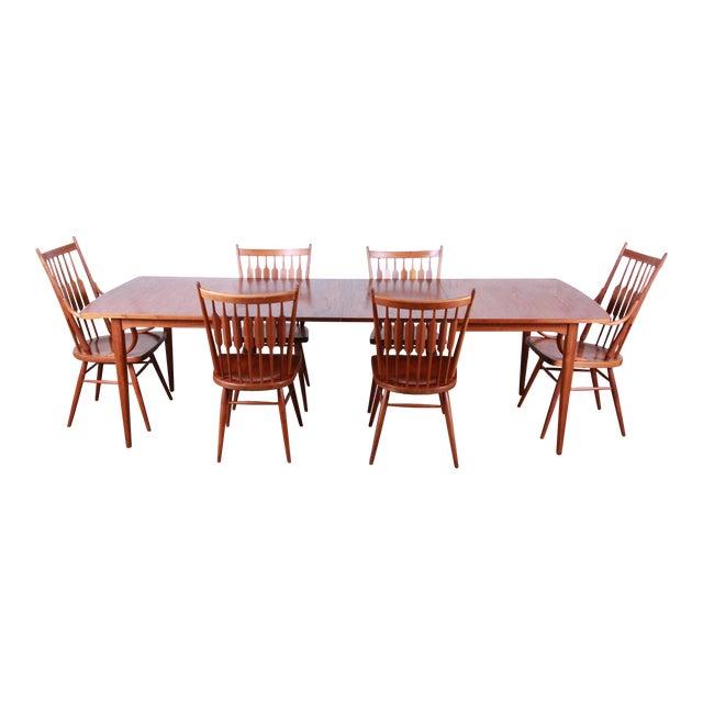 Kipp Stewart for Drexel Declaration Mid-Century Modern Walnut Dining Set For Sale