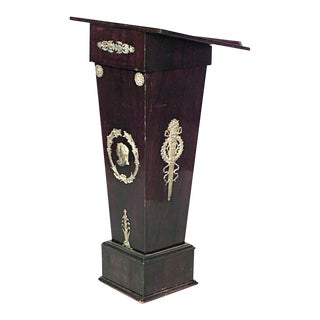 French Empire Mahogany Lectern For Sale