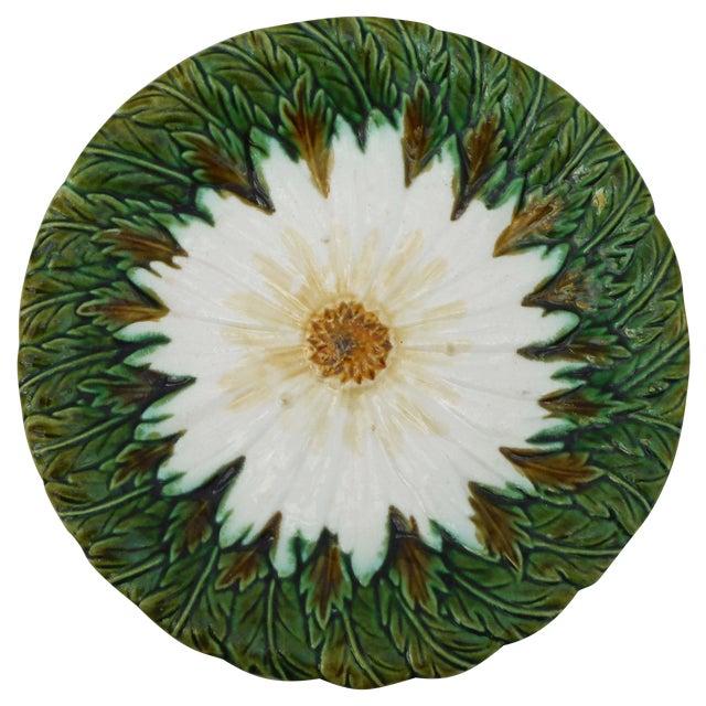 Majolica Daisy Plate For Sale
