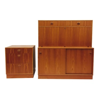 Vintage Danish Modern Desk Set - 2 Pc.