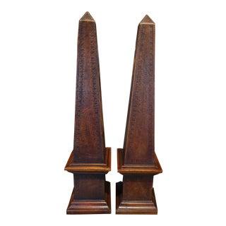 Pair of Vintage French Obelisks For Sale