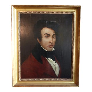 """Early 19th Century """"Portrait of a Young Spanish Gentleman"""" Oil Painting, Framed For Sale"""