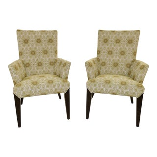 Larry Laslo Directional Dining Arm Chairs - A Pair For Sale