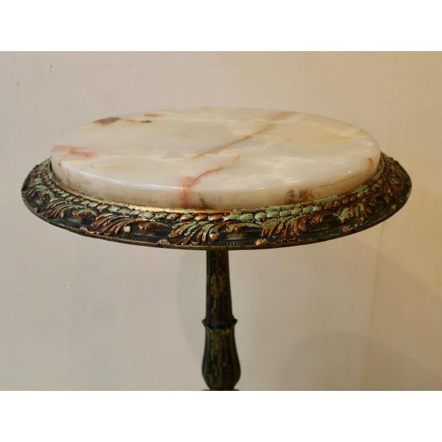 French French Onyx Top Gueridons With Gryphons Side Table For Sale - Image 3 of 8