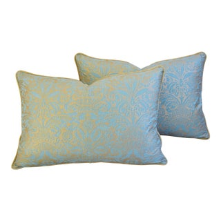 Italian Mariano Fortuny Campanelle Feather/Down Pillows - Pair For Sale
