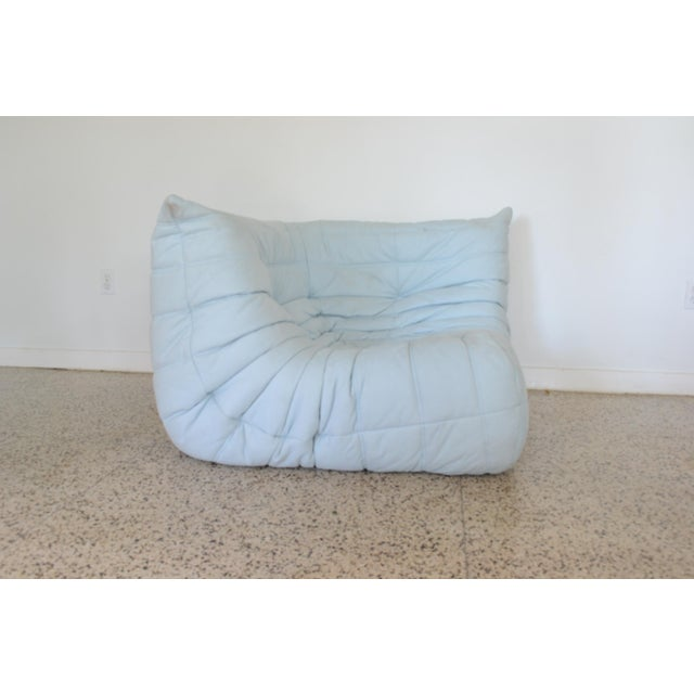 """Mid-Century Modern Ligne Rose """"Togo"""" 3 Piece Sectional by Michel Ducaroy For Sale - Image 3 of 11"""