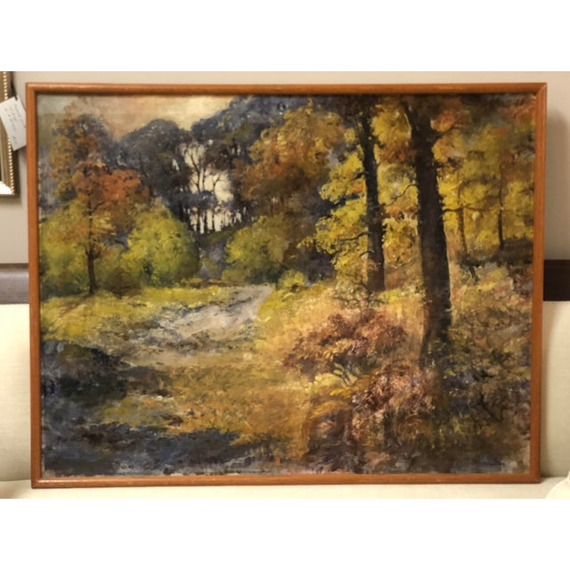 Autumn Forest Oil on Canvas Early 20th Century For Sale - Image 11 of 11