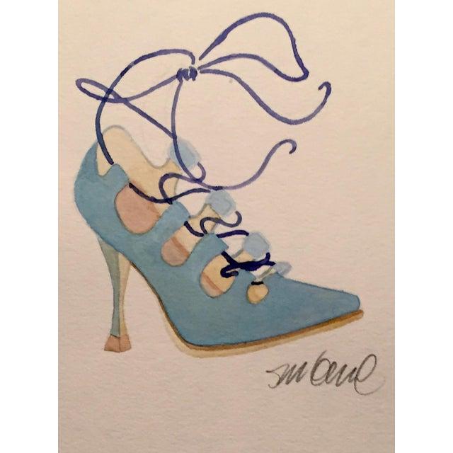 Powder Blue High Heel Watercolor - Image 2 of 2