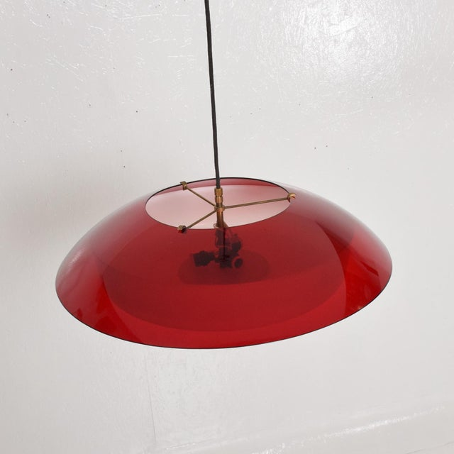 Stilux Mid-Century Italian Modern Pendant Light Fixture by Stilux, Italy Chandelier For Sale - Image 4 of 7