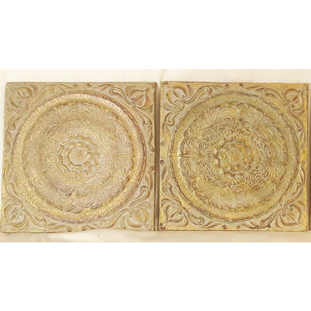 Architectural Raised Wall Art Tiles - Set of 6 | Chairish