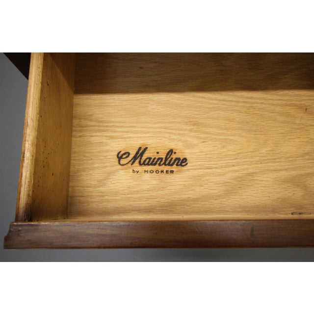 Wood Vintage Hooker Mainline Mid-Century Modern Desk For Sale - Image 7 of 7