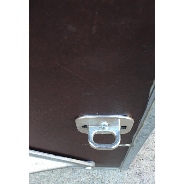 Steel Side Table on Wheels - Image 6 of 6