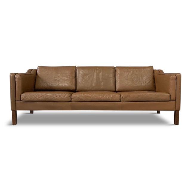 Wood Børge Mogensen Model 2213 Three-Seat Sofa For Sale - Image 7 of 7