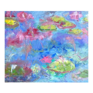 Abstract Lily Pads Oil Painting