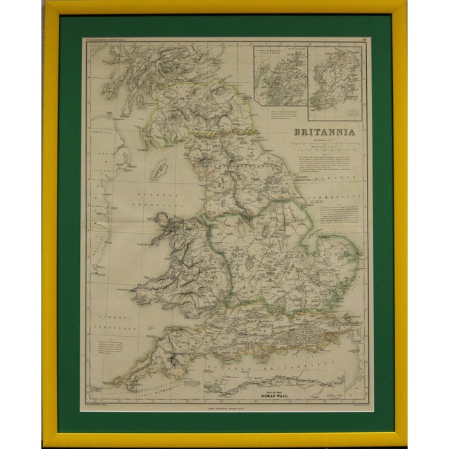 Britannia Map by Edw. Weller For Sale