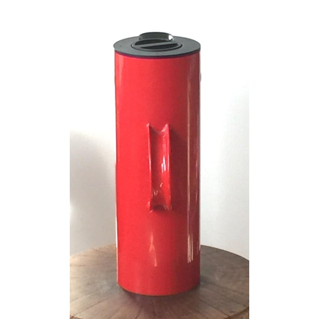 Stelton 1970s Erik Magnussen for Stelton Danish Modern Red & Black Insulated Carafe For Sale - Image 4 of 10
