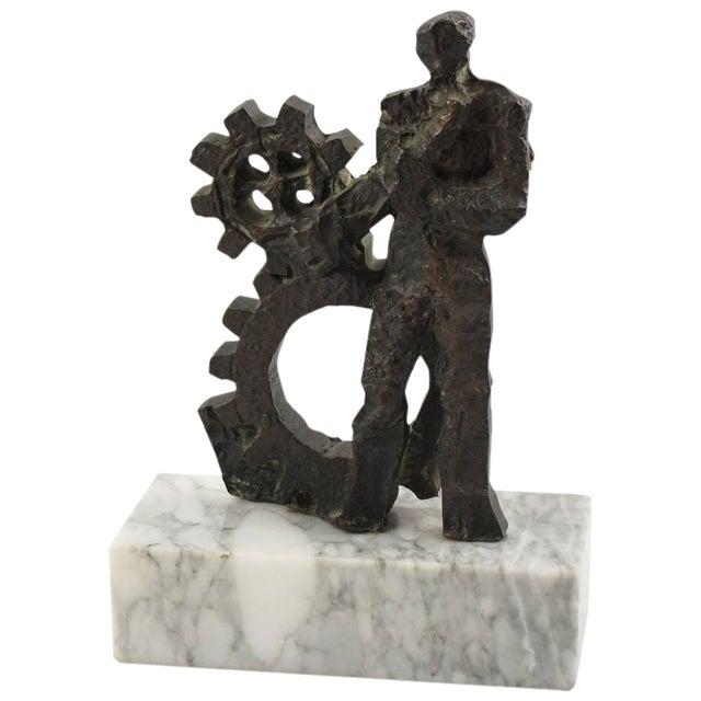 Mid-Century Modernist Brutalist Bronze Sculpture For Sale