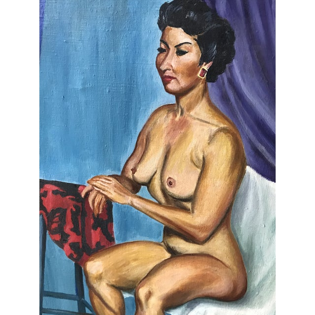 Mid Century Original Nude Oil Painting by Pawlicki 1955 For Sale - Image 4 of 7