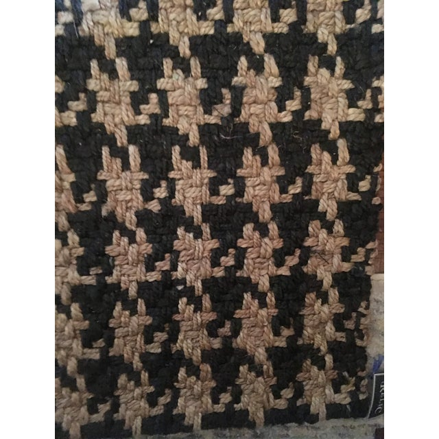 2010s Classic Home Houndstooth Handspun Jute Rug - 5′ × 8′ For Sale - Image 5 of 12