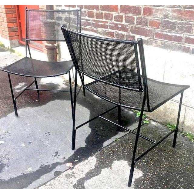 "Metal Mathieu Mategot Unique Set of Four Black Metal Chair Models ""Panamera"" For Sale - Image 7 of 8"