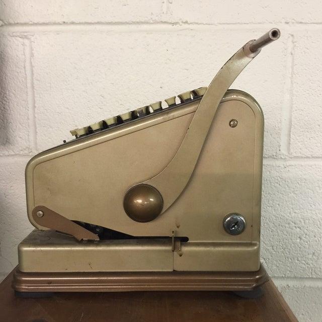 Vintage Paymaster 700 Check Writer - Image 6 of 9