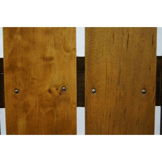Metal Arthur Umanoff Iron Frame Wood Slat Bar For Sale - Image 7 of 10