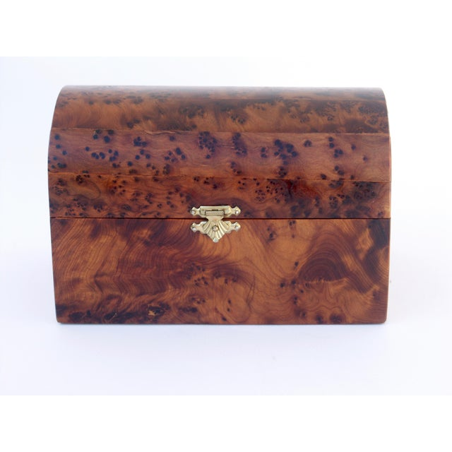 Boho Chic Moroccan Decorative Juniper Burl Wood Box For Sale - Image 3 of 7