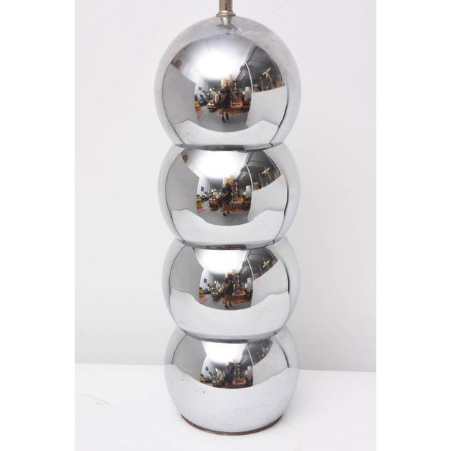 George Kovacs Pair of Kovacs Stacked Chrome Ball Lamp, 1970s, Usa For Sale - Image 4 of 9