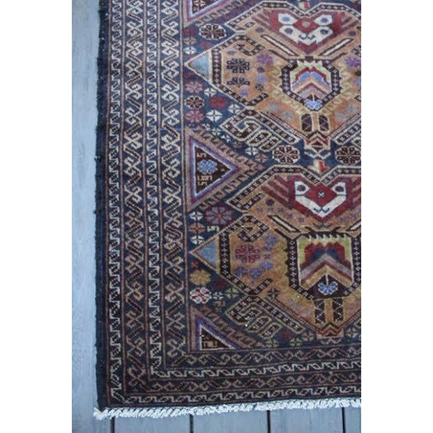 """Vintage Persian Balouch Rug - 2'9"""" X 4'5"""" - Image 7 of 9"""