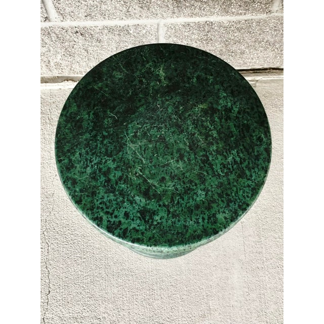 Vintage Green Marble Side Table For Sale - Image 4 of 10
