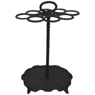 Late 19th Century Antique Victorian Wrought Iron Umbrella Stand For Sale