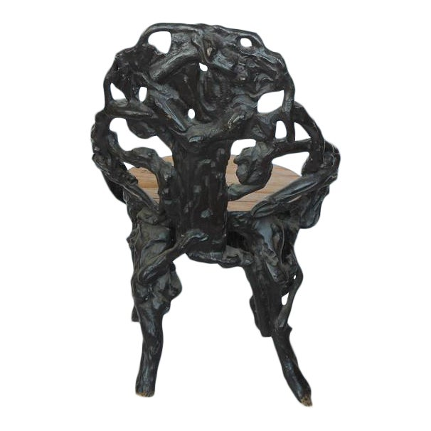 Stylish antique Black Forest chair.