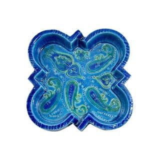 Bitossi Rimini Blue Tray by Aldo Londi For Sale
