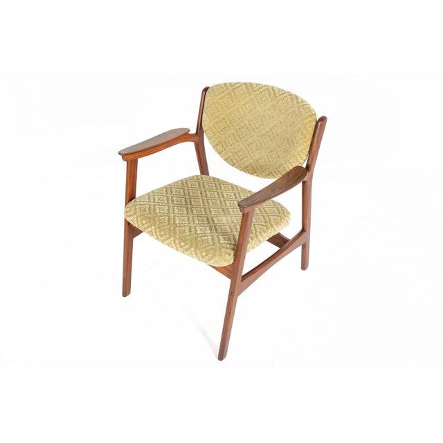 Danish Modern Rosewood & Mohair Armchair - Image 2 of 10