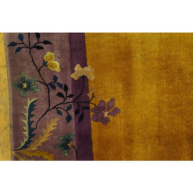 Textile 1920s Antique Chinese Art Deco Rug- 6′ × 8′8″ For Sale - Image 7 of 7