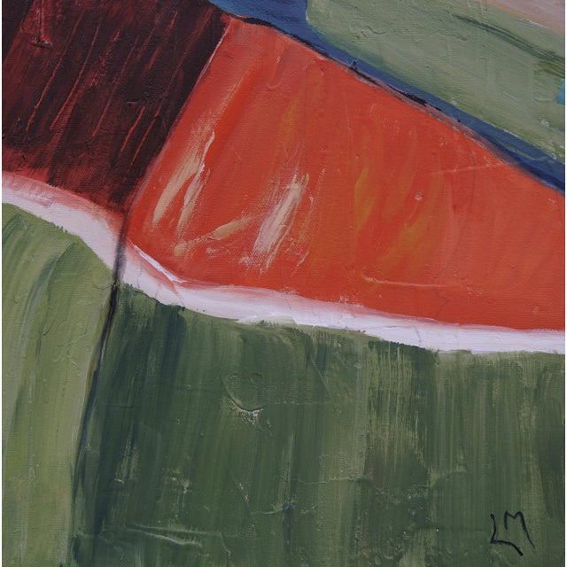 "2020s ""Far and Away"" Contemporary Abstract Landscape Acrylic Painting by Laurie MacMillan, Framed For Sale - Image 5 of 6"