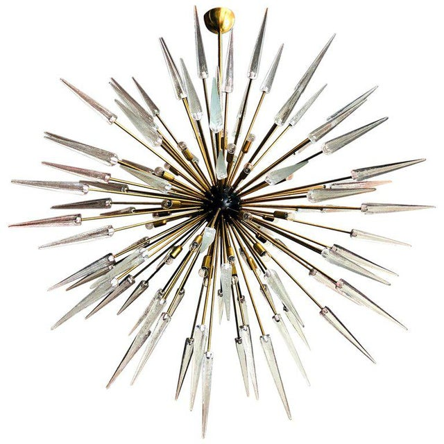 Brass Sole Sputnik Chandelier by Fabio Ltd For Sale - Image 7 of 7