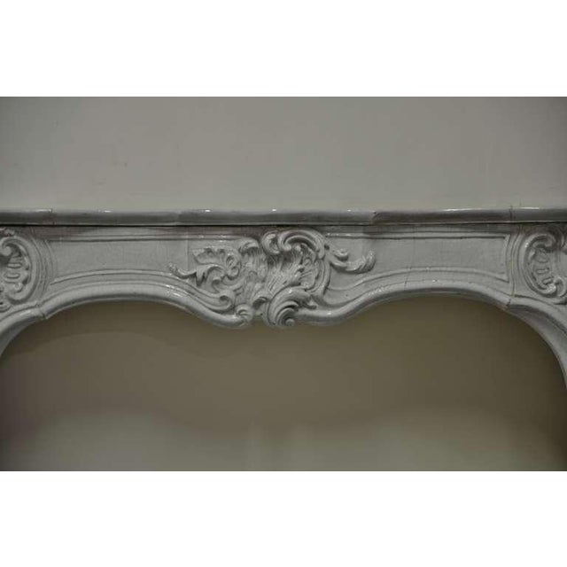 Ceramic -Unique - 19th c. Porcelain French Rococo Fireplace For Sale - Image 7 of 11
