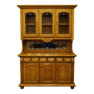 "French Broyhill Furniture Oak Country 57"" Buffet For Sale"