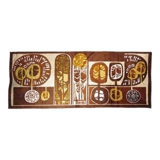 1950s Eastern European Abstract Modernist Art Tapestry/Runner Rug For Sale
